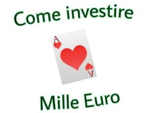 Immagini su come investire 1000 euro