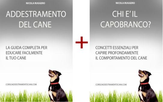 2 copertine corso per addestrare il proprio cane