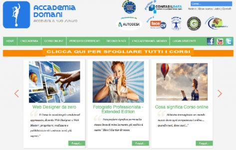 Accademia Domani il sito di corsi online