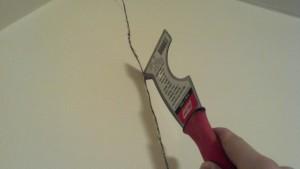 Eliminare le crepe nelle pareti di casa